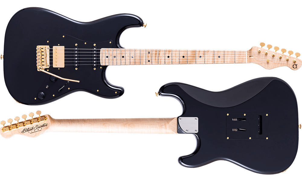 SIGMA-SSH Black/Gold Hardware Curly Maple on Curly Maple Neck
