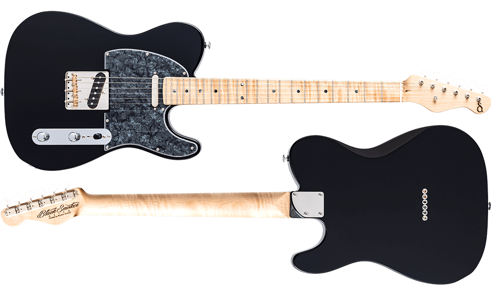 DELTA-S Black Curly Maple on Curly Maple Neck