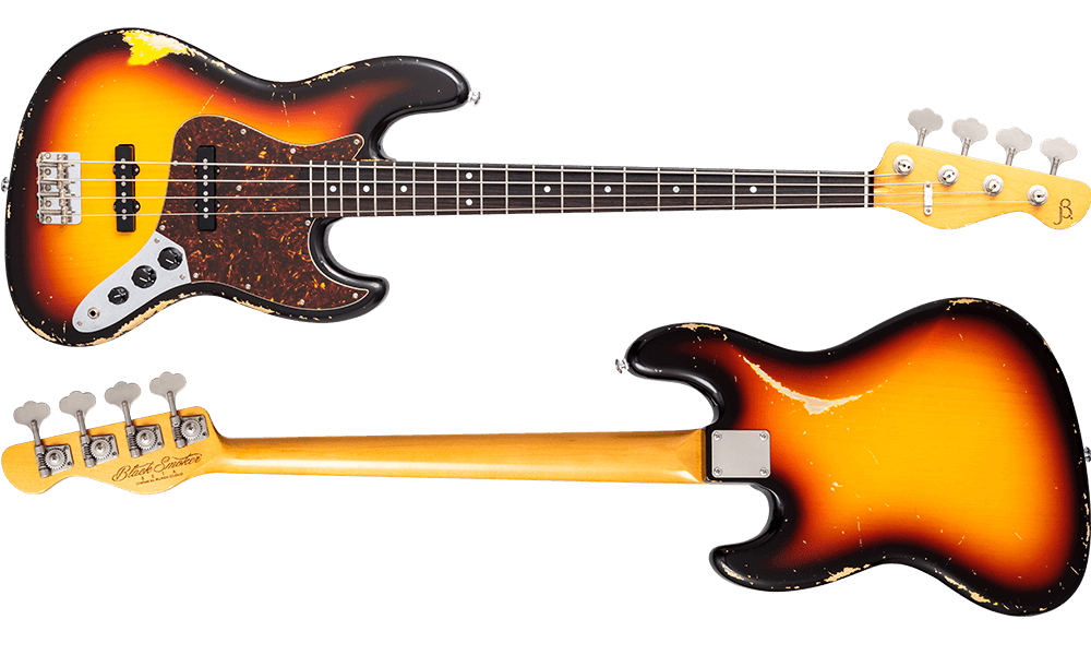 BETA-J4 3 Tone Sunburst Heavy Aged