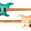 FUTURA-S HH LTD Jade Blueburst / Ash Back AAAA Quilted Maple Top Body